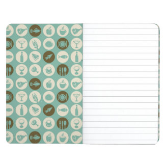 Pattern With Restaurant And Food Icons Journal