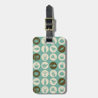 Pattern With Restaurant And Food Icons Luggage Tag