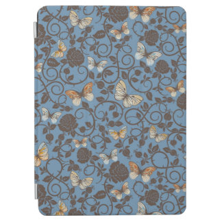 pattern with roses and butterfly iPad air cover