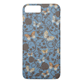 pattern with roses and butterfly iPhone 8 plus/7 plus case