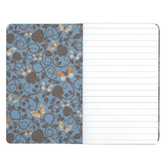 pattern with roses and butterfly journals