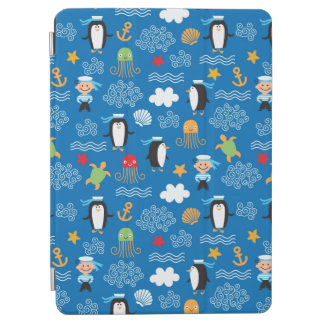 pattern with sea theme iPad air cover