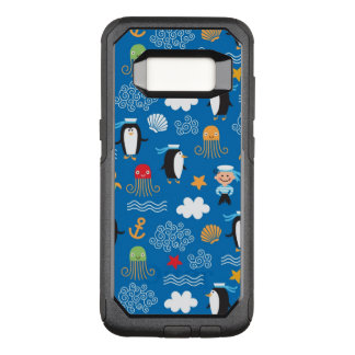 pattern with sea theme OtterBox commuter samsung galaxy s8 case