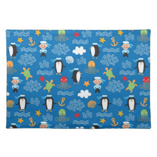pattern with sea theme placemat