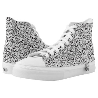 Pattern with skulls high tops