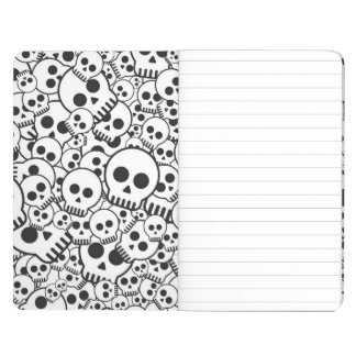 Pattern with skulls journal