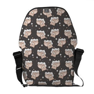 pattern with small bear sleeping commuter bag