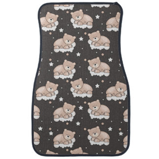 pattern with small bear sleeping floor mat