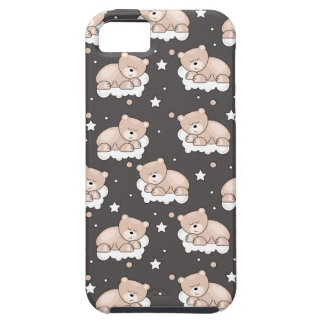 pattern with small bear sleeping iPhone 5 covers