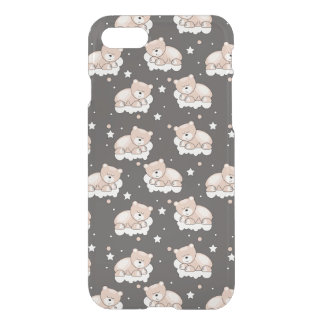 pattern with small bear sleeping iPhone 8/7 case