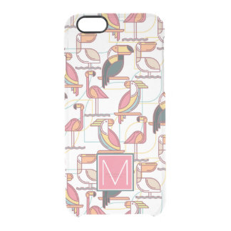 Pattern With Tropical Birds | Add Your Initial Clear iPhone 6/6S Case