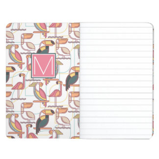 Pattern With Tropical Birds | Add Your Initial Journal
