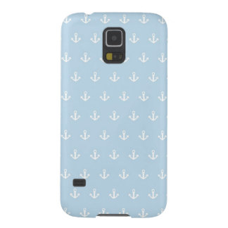 Pattern with white anchors on blue galaxy s5 case