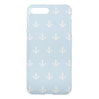 Pattern with white anchors on blue iPhone 8 plus/7 plus case