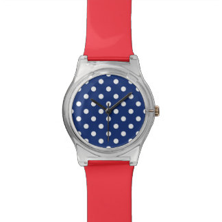 Pattern with white polka dots 2 watch