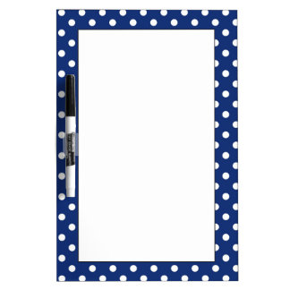 Pattern with white polka dots dry erase white board