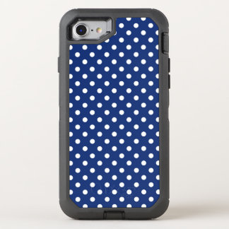 Pattern with white polka dots OtterBox defender iPhone 8/7 case