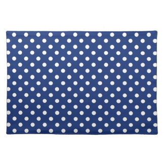 Pattern with white polka dots placemat