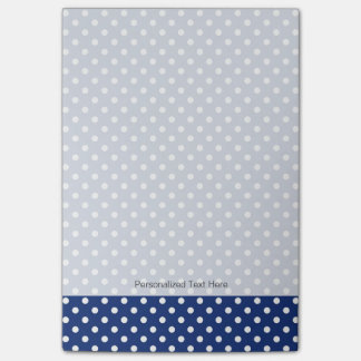Pattern with white polka dots post-it notes