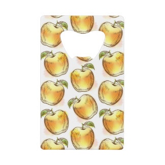 Pattern with yellow apple