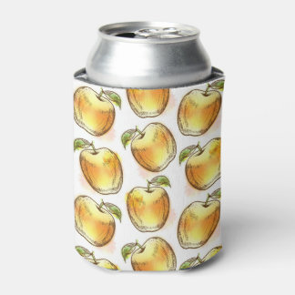 Pattern with yellow apple can cooler