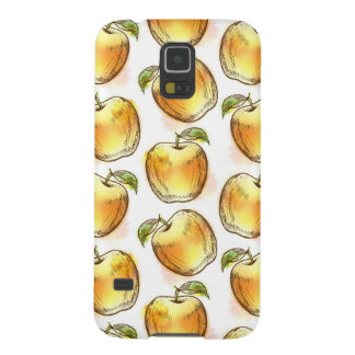 Pattern with yellow apple case for galaxy s5