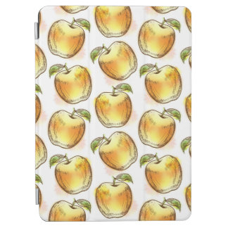 Pattern with yellow apple iPad air cover