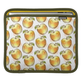 Pattern with yellow apple iPad sleeve