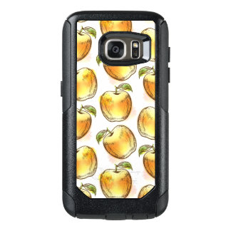 Pattern with yellow apple OtterBox samsung galaxy s7 case