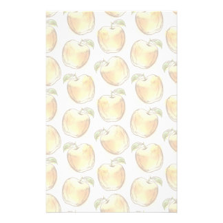 Pattern with yellow apple stationery