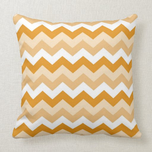 Pattern zigzags (orange and blank) pillow