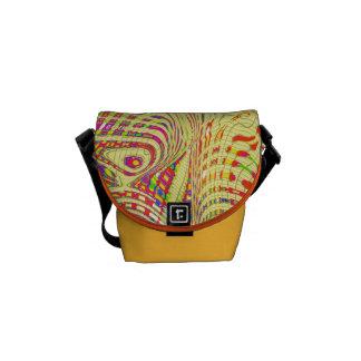 Patterned and Plain Mini Messenger Bag