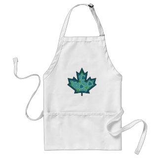 Patterned Applique Stitched Maple Leaf  8 Apron