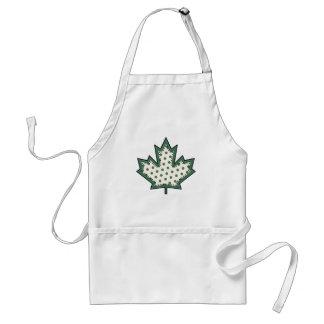 Patterned Applique Stitched Maple Leaf  9 Aprons
