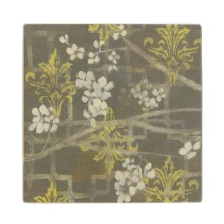 Patterned Blossom Branch I Wood Coaster