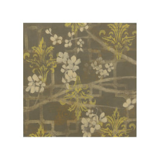Patterned Blossom Branch I Wood Print