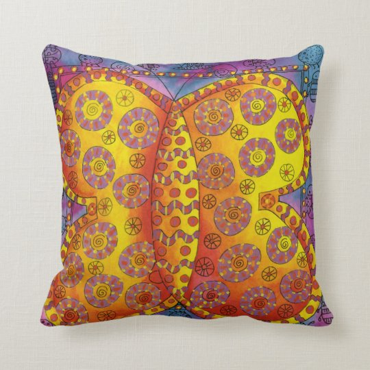 Patterned Butterfly Cushion