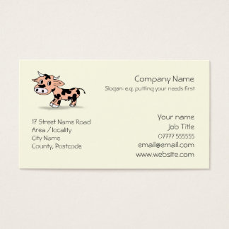 Patterned Cartoon Cow logo