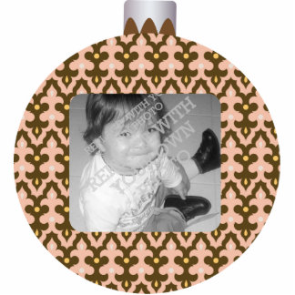 Patterned Christmas Ornament Ball Photo Frame Photo Sculpture Decoration