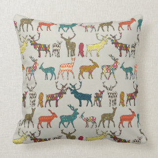 patterned deer stone cushion