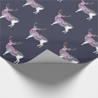 Patterned Deer Wrap Wrapping Paper