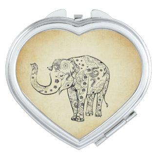 Patterned Elephant Vanity Mirrors