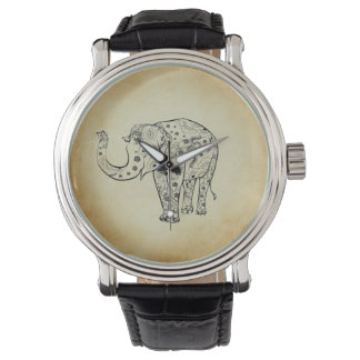 Patterned Elephant Wristwatch