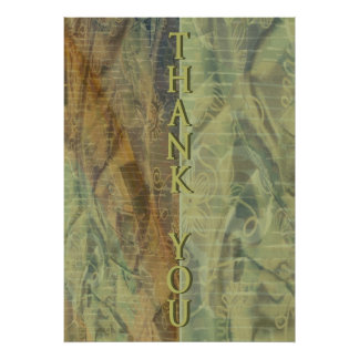 Patterned Fabric Thank You Print
