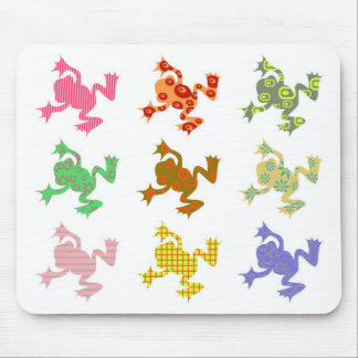 Patterned Frogs Mouse Mat