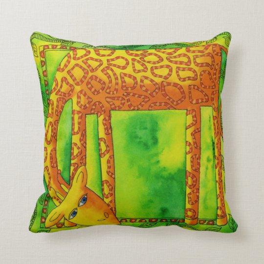 Patterned Giraffe Cushion