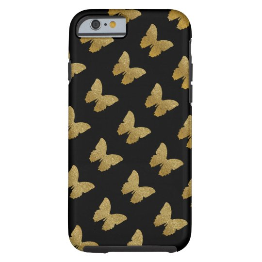 patterned golden-colour butterfly tough iPhone 6 case