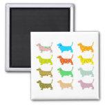 patterned-hound-dogs fridge magnet