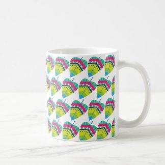 Patterned leaf mug