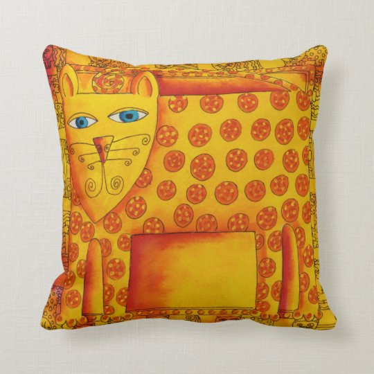 Patterned Leopard Cushion